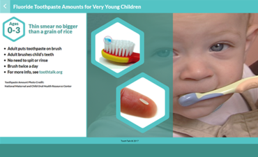 New, Free Tooth Talk Apps Show Recommended Fluoride Toothpaste Amounts for Children